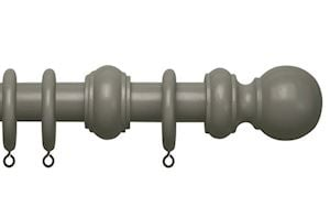 Speedy County 28mm Urban Grey Wooden Curtain Pole