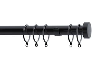 Speedy 28mm Stud End Cap Curtain Pole Black