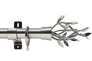 Swish 35mm Design Studio Entwine Satin Steel Metal Curtain Pole