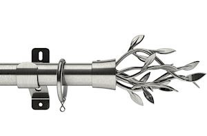 Swish 28mm Design Studio Entwine Satin Steel Metal Curtain Pole