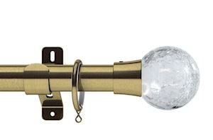 Swish 28mm Design Studio Gossamer Antique Brass Metal Curtain Pole