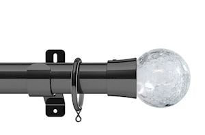 Swish 28mm Design Studio Gossamer Graphite Metal Curtain Pole