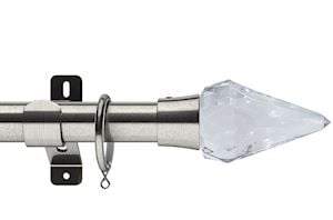 Swish 28mm Design Studio Kwartz Satin Steel Metal Curtain Pole