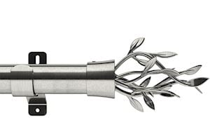 Swish 28mm Design Studio Entwine Satin Steel Eyelet Pole - Thumbnail 1