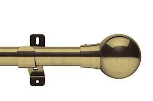 Swish 28mm Design Studio Mondiale Antique Brass Eyelet Pole - Thumbnail 1