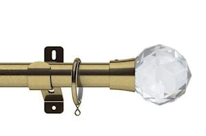 Swish 28mm Design Studio Prisma Antique Brass Metal Curtain Pole