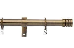 Universal 28mm Barrel Antique Brass Metal Curtain Pole