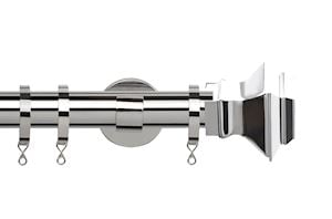 Speedy 35mm Aztec IDC Curtain Pole Chrome