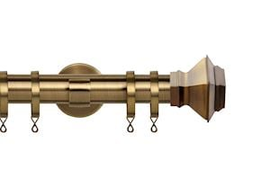Speedy 35mm Aztec IDC Curtain Pole Antique Brass
