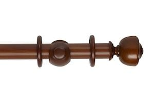 Hallis 35mm Museum Asher Wooden Curtain Pole Antique Pine