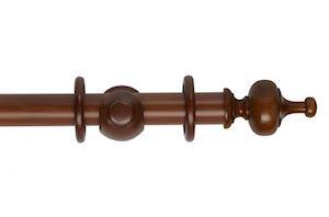 Rolls 35mm Museum Boudoir Wooden Curtain Pole Antique Pine