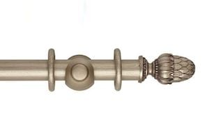 Hallis 35mm Museum Pantheon Wooden Curtain Pole Satin Oyster