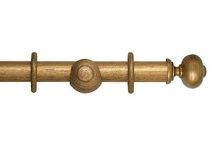 Hallis 35mm Museum Parham Wooden Curtain Pole Antique Guilt