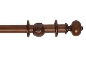 Hallis 35mm Museum Parham Wooden Curtain Pole Antique Pine