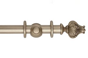Hallis 45mm Museum Vienna Wooden Curtain Pole Satin Oyster