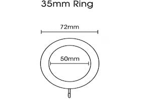 Rolls Honister 35mm Wooden Rings Pale Slate - Thumbnail 2