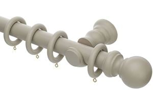 Rolls Honister 35mm Wooden Curtain Pole Caffe Latte - Thumbnail 1