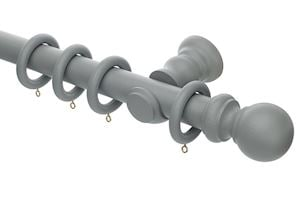 Rolls Honister 35mm Wooden Curtain Pole Pale Slate