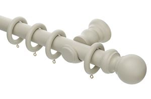 Rolls Honister 35mm Wooden Curtain Pole Stone