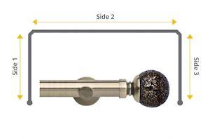 Rolls Neo 35mm Bay Window Eyelet Pole Mosaic Ball Spun Brass