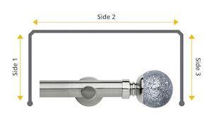Rolls Neo 35mm Bay Window Eyelet Pole Mosaic Ball Stainless Steel