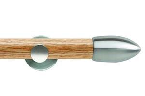 Rolls 35mm Neo Oak Bullet Stainless Steel Wooden Eyelet Pole