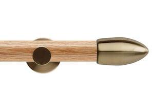 Rolls 35mm Neo Oak Bullet Spun Brass Wooden Eyelet Pole - Thumbnail 1