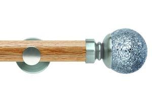 Rolls 35mm Neo Oak Mosaic Ball Stainless Steel Wooden Eyelet Pole