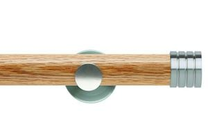 Rolls 35mm Neo Oak Stud Stainless Steel Wooden Eyelet Pole