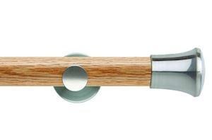 Rolls 35mm Neo Oak Trumpet Stainless Steel Wooden Eyelet Pole - Thumbnail 1