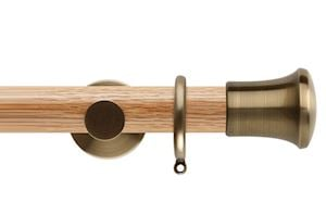 Rolls 35mm Neo Oak Trumpet Spun Brass Wooden Curtain Pole