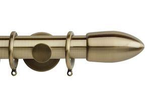 Rolls 35mm Neo Bullet Metal Curtain Pole Spun Brass