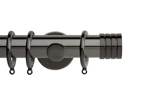 Rolls 35mm Neo Stud Metal Curtain Pole Black Nickel