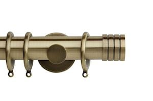Rolls 35mm Neo Stud Metal Curtain Pole Spun Brass
