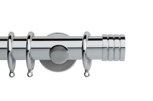 Rolls 35mm Neo Stud Metal Curtain Pole Chrome