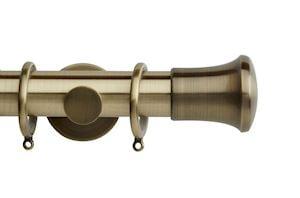 Rolls 35mm Neo Trumpet Metal Curtain Pole Spun Brass