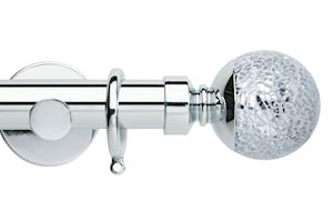 Rolls 35mm Neo Mosaic Ball Metal Curtain Pole Chrome