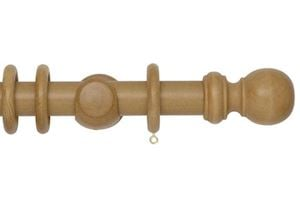 Rolls 35mm Woodline Wooden Curtain Pole Light Oak