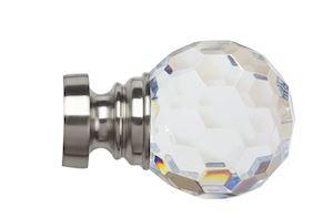 Speedy 35mm Acrylic Ball Eyelet Pole Satin Silver - Thumbnail 3
