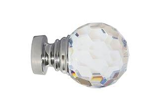 Speedy 35mm Acrylic Ball Eyelet Pole Chrome  - Thumbnail 3