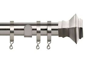 Speedy 35mm Aztec Curtain Pole Satin Silver