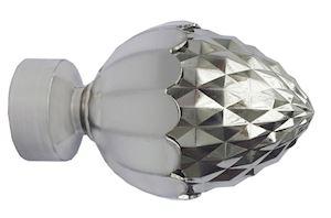 Speedy 35mm Acorn Eyelet Pole Satin Silver - Thumbnail 3