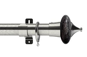 Swish 35mm Design Studio Cupola Satin Steel Metal Curtain Pole