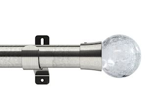 Swish 35mm Design Studio Gossamer Satin Steel Eyelet Pole - Thumbnail 1