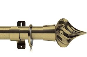 Swish 35mm Design Studio Kremlin Antique Brass Metal Curtain Pole