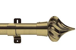 Swish 35mm Design Studio Kremlin Antique Brass Eyelet Pole - Thumbnail 1