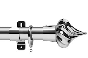Swish 35mm Design Studio Kremlin Chrome Metal Curtain Pole