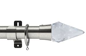 Swish 35mm Design Studio Kwartz Satin Steel Metal Curtain Pole