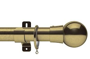Swish 35mm Design Studio Mondiale Antique Brass Metal Curtain Pole