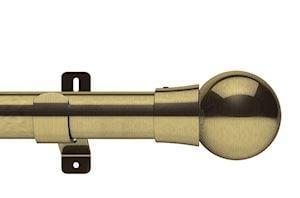 Swish 35mm Design Studio Mondiale Antique Brass Eyelet Pole - Thumbnail 1